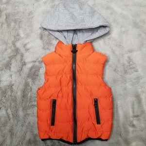 Appaman Hooded Zip Up Puffer Vest Orange 3T